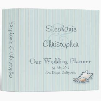 "Conch Shell Wedding Planner Binder (2"")"