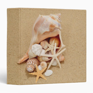 "Conch Shell with Shells and Starfish 1.5"" Binder"