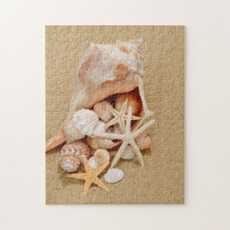 Conch Shell with Shells and Starfish Puzzles