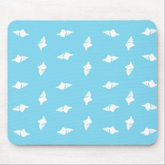 Conch Shells on Aqua Mouse Pad