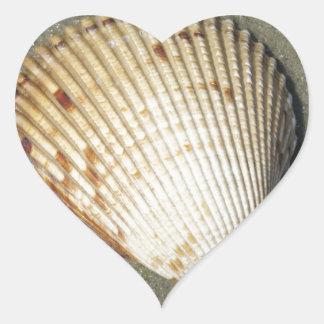 Concha de peregrino colcomanias de corazon personalizadas