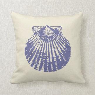 Concha de peregrino Shell azul Almohada