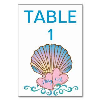Concha de peregrino Shell - ondas rosadas del azul