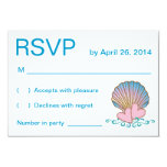 Concha de peregrino Shell - ondas rosadas del azul Anuncios Personalizados