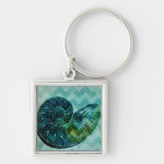Concha espiral Shell de la turquesa Llavero Personalizado