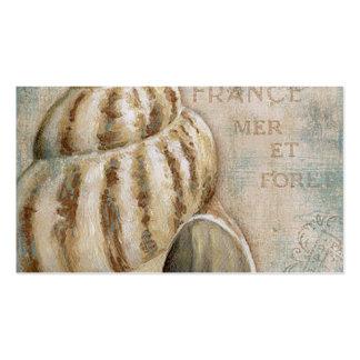 Concha francesa Shell del vintage Tarjetas De Visita