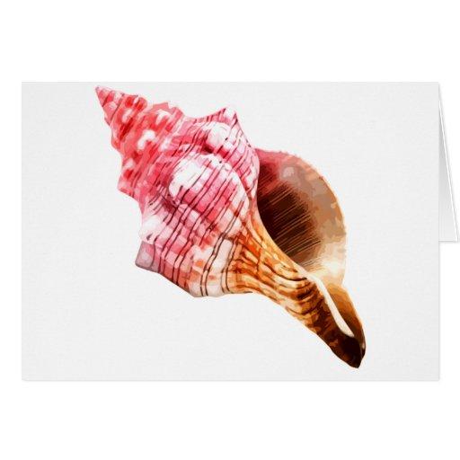 Concha rosada Shell de Sandy Tarjeta De Felicitación
