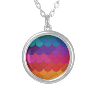 Conchas de peregrino del arco iris colgante redondo