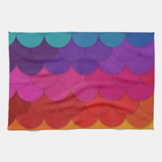Conchas de peregrino del arco iris toalla