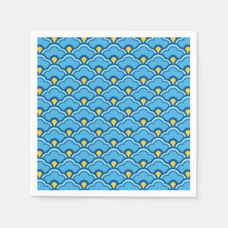 Conchas de peregrino, turquesa y aguamarina chinas servilletas de papel