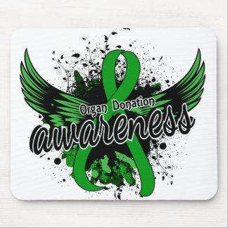 Conciencia 16 de la donación de órganos mouse pads