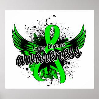 Conciencia 16 de la enfermedad de Lyme Póster