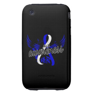 Conciencia 16 del ALS Tough iPhone 3 Protectores