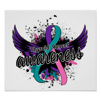 Conciencia 16 del cáncer de tiroides póster