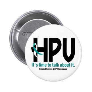 Conciencia 1 de HPV Pin Redondo De 2 Pulgadas
