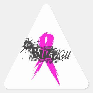 Conciencia 2013 del cáncer de pecho pegatinas de trianguladas
