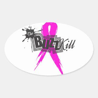 Conciencia 2013 del cáncer de pecho colcomanias ovaladas