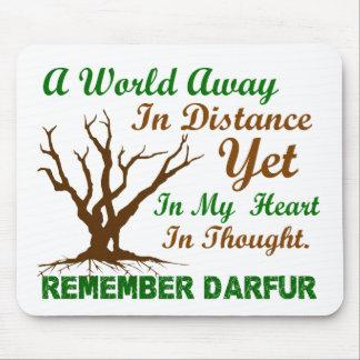 Conciencia 2 de Darfur Alfombrilla De Ratón