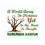 Conciencia 2 de Darfur Tarjetas Postales