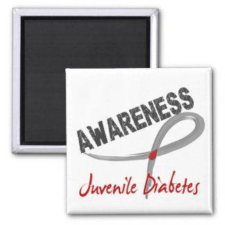 Conciencia 3 de la diabetes juvenil imán