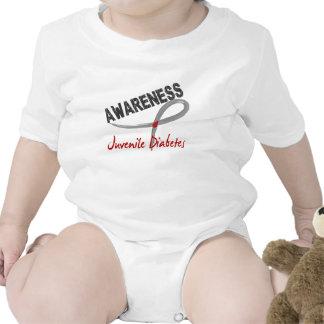 Conciencia 3 de la diabetes juvenil trajes de bebé