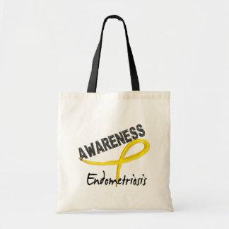 Conciencia 3 de la endometriosis bolsa lienzo