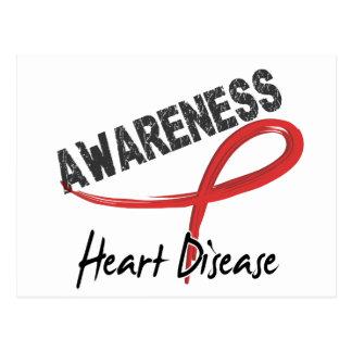 Conciencia 3 de la enfermedad cardíaca postales