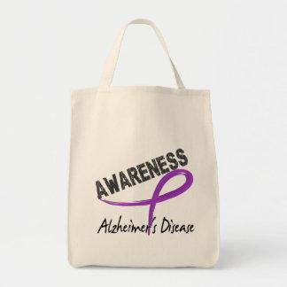 Conciencia 3 de la enfermedad de Alzheimer Bolsa Tela Para La Compra