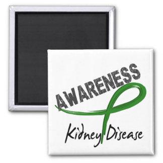 Conciencia 3 de la enfermedad de riñón iman de frigorífico