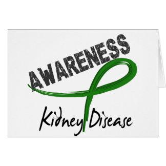 Conciencia 3 de la enfermedad de riñón felicitación