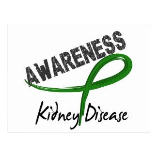 Conciencia 3 de la enfermedad de riñón tarjetas postales