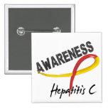 Conciencia 3 de la hepatitis C Pin Cuadrada 5 Cm