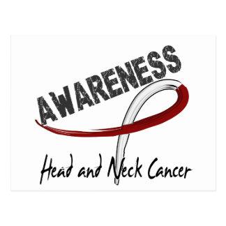Conciencia 3 del cáncer de cabeza y cuello tarjetas postales