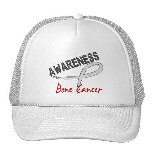 Conciencia 3 del cáncer de hueso gorras