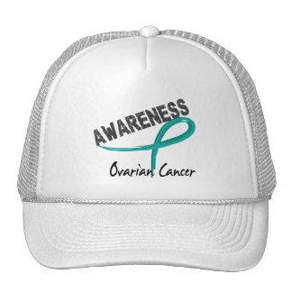 Conciencia 3 del cáncer ovárico gorro de camionero