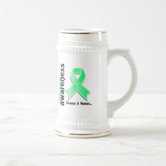 Conciencia 5 de la enfermedad celiaca jarra de cerveza