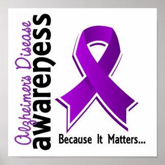 Conciencia 5 de la enfermedad de Alzheimer Posters