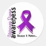 Conciencia 5 de la enfermedad de Alzheimer Pegatinas Redondas