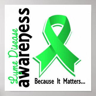 Conciencia 5 de la enfermedad de Lyme Posters