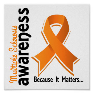 Conciencia 5 de la esclerosis múltiple póster
