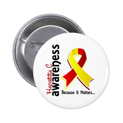 Conciencia 5 de la hepatitis C Pin Redondo De 2 Pulgadas