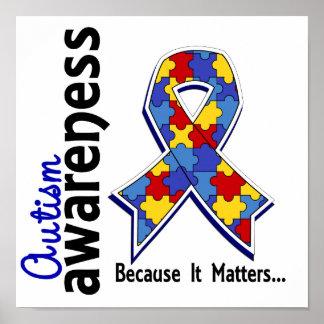 Conciencia 5 del autismo póster