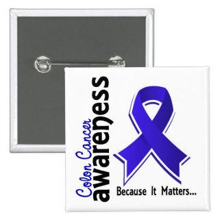 Conciencia 5 del cáncer de colon pin cuadrado