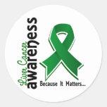Conciencia 5 del cáncer de hígado pegatinas redondas
