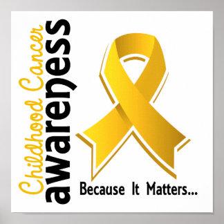 Conciencia 5 del cáncer de la niñez póster