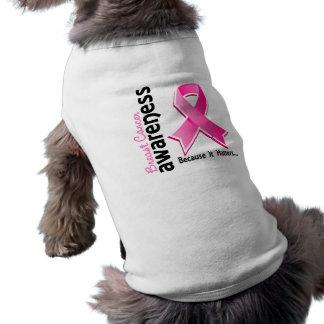Conciencia 5 del cáncer de pecho camisetas de perro