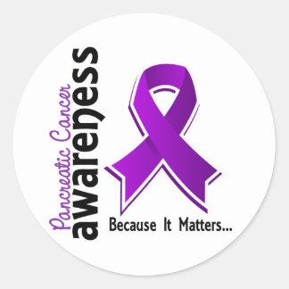 Conciencia 5 del cáncer pancreático pegatina redonda