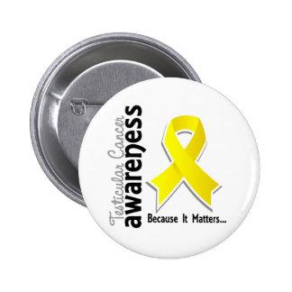 Conciencia 5 del cáncer testicular pin redondo de 2 pulgadas