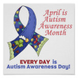 Conciencia abril del autismo y cada día impresiones