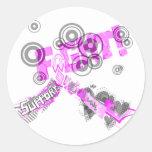 Conciencia abstracta etiquetas redondas